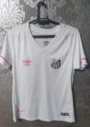 Camiseta Santos feminina