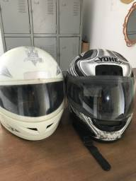 Dois capacetes por R$40