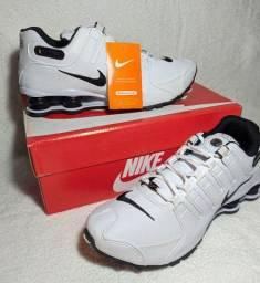 Tenis Branco Nike Shox Nz Eu 4 Molas Caminhada Macio
