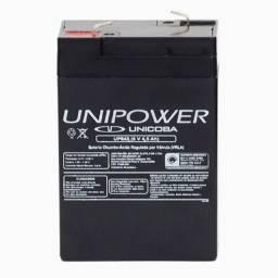 Bateria 6v 4,5ah UP 645 SEG + Adaptador + Carregador
