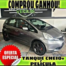TANQUE CHEIO SO NA EMPORIUM CAR!!! HONDA FIT LX 1.4 AUTOMATICO 2009 COM MIL DE ENT