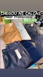 Promoção de calças masculinas