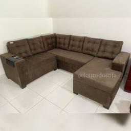 Sofá de luxo, 6 lugares com chaise