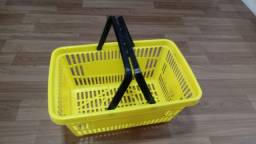 KIT 14 unidades Cesto Plástico para mercado - Impecavel