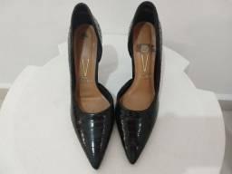 Sapato feminino Scarpin preto semiaberto nº 37