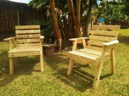 Linda cadeira de jardim