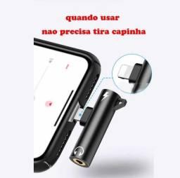 [NOVO] Adaptador para Iphone Lighting + P2