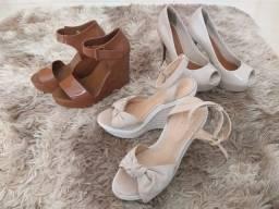 3 Pares de Calçados Femininos 36