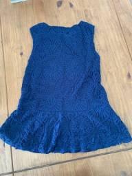 Blusa azul renda tamanho P