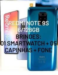 Redmi Note 9S 6/128gb com Brindes