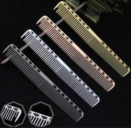 Pente Profissional Metal Aço inoxidável uso profissional / somos loja física do barbeiro