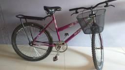 Bicicleta aro 26, com cadeirinha dianteira Baby Baki Kalf Preta.