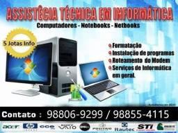 Assistência especializada em Pçs, Notebooks e Netebooks