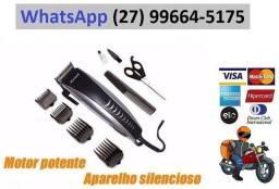 Maquina De Corta Cabelo Barba Aparador Profissional 110v