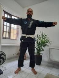 Kimono Overcrow preto para Jiu jitsu