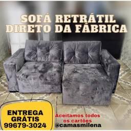 Sofá Retrátil Luxo