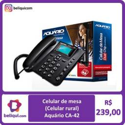 Título do anúncio: Celular de mesa (Celular rural) | Aquário CA-42 | Dual chip