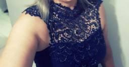 Vestido de Festa Azul Marinho Promoção