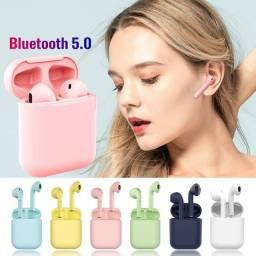 Fone de Ouvido Bluetooth TWS I12 Preto Apenas