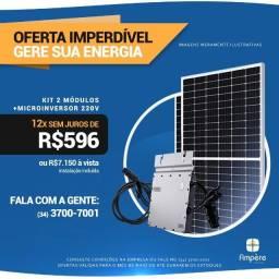 Kit Fotovoltaico 2 Módulos + Microinversor Hoymiles MI-700