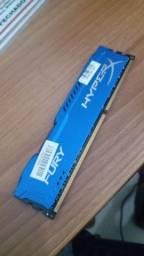 2x8 ram DDR3 hyperx blindada azul