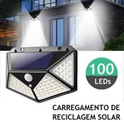 Luminária solar com sensor de presença completo