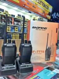 Kit 2 Radio Comunicador Walk Baofeng Alcance 9km, Com Carregador  E Fone