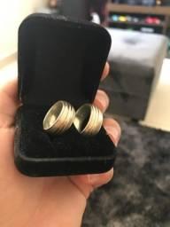 Par de aliança em prata