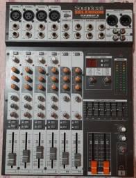 Mesa de Som Soundcraft Selenium SX802 FX semi nova profissional, Aceito Cartão.