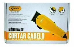 Kit Maquina De Cortar Cabelo Barba Profissional Knup Motor V5000