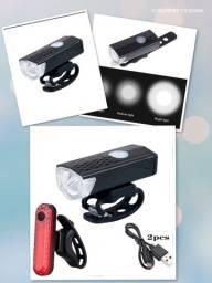 Kit-farol lanterna recarregável para bike