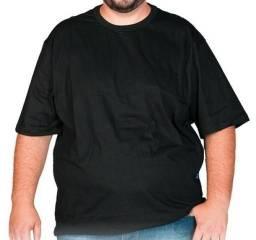 Camiseta 100% Algodão Plus Size Extra Grande EGG Preta Lisa