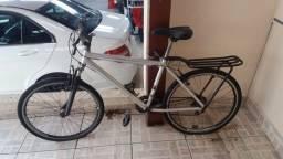 Bicicleta Alumínio com garupa e amortecedor