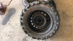 Rodas com pneus para gaiola Cross, buggy comprar usado  Araucária