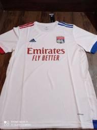 Camisa de time Lyon Adidas tamanho GG