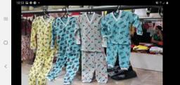 Pijamas infantis 100% algodão