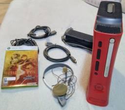 Xbox 360 Elite 120gb Edição Resident Evil 5 + 18 jogos originais