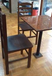 Vendo urgente Mesas marmore e cadeiras de madeira