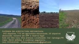 Fazenda em Agricultura Mecanizada no Paraná / Ivaí-Ipiranga