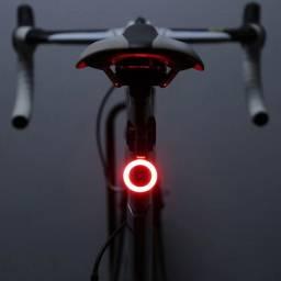 Lanterna Bike Sinalizador Bicicleta Luz Led Recarregável