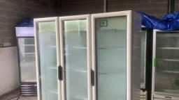 Freezer expositor de 3 porta