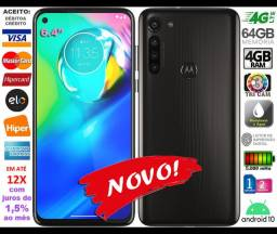"Moto G8 Power Octa Core 64GB, Tela 6.4"", QuadCâm 16MP, Novo, Caixa, NF, Gar, Troco"