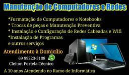 Manutenção de Computadores,  Notebooks e redes Wi-Fi