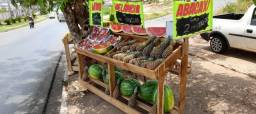 Bancas de madeira pra frutas