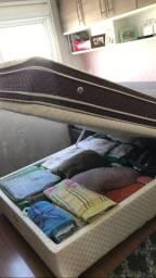 Cama bau + colchão 138 em bom estado