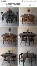 Mesas e cadeiras * madeira