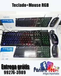 Teclado e mouse Gamer RGB (entrega rápida)