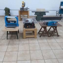 Marcenaria - Serra de mesa, desengrosso e desempenadeira