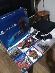 PS4 pro UHD 4k  1T, Novinho com caixa e manual .