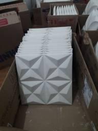 Placas 3D de gesso ,38 reais o m²